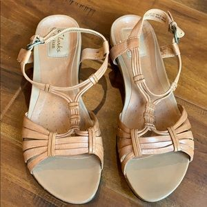 Clarks Artisan Leather Strappy Sandal Shoes